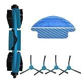 WDGNY Accesorios de limpieza de rodillos cepillo lateral cepillo trapos conjunto piezas de repuesto para Cecotec Conga 3090 aspirador robot kit de cepillo