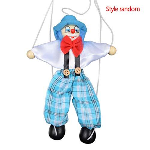 wufeng Tire Colorido Cuerdas de Marionetas de Madera Payaso de Marionetas Artesanía Juguetes Tire Colorido Regalos Conjunto Actividad muñeca Niños Niños Color al Azar