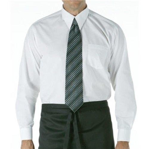 """Mens Long Taille Chemise à manches blanc:. Petite (36 - 38 """") polycoton."""