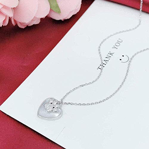 MGBDXG Co.,Ltd Collar Collar con Huella de Gato en Forma de corazón Collar Plateado