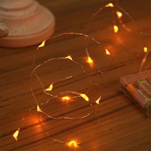 XINKAITE String Lights, Waterproof LED String Lights, Fairy String Lights Starry String Lights for Indoor& Outdoor DIY Decoration Home Parties Christmas Holiday (10FT/3Meters, Orange)