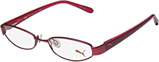 Puma 15357 Pico Mens/Womens Cat Eye Spring Hinges Optimal TIGHT-FIT Designed for Active Lifestyles Eyeglasses/Eyeglass Frame