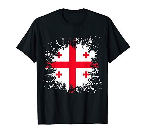 Georgien Flagge Georgische Fahne T-Shirt Sakartwelo T-Shirt