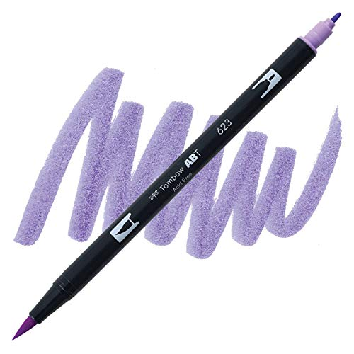 Dual Brush Pen Tombow Purple sage 623