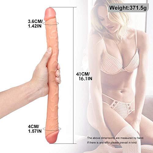 USTHOY 18,1-Zoll-Super Soft Realistic Ďîldɔ Wasserdicht Anfänger Double Header Persönliche Körpermassager- Tragbarer Frauen