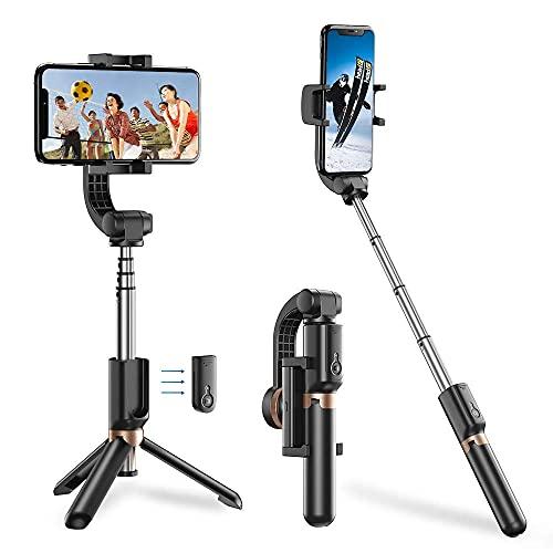 Apexel Bluetooth Selfie Stick, trípode de Mano expandible para teléfono móvil con cardán de un Solo Eje, Adecuado para iPhone, Samsung Galaxy/Note, Google Pixel, OnePlus