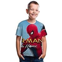 ぬいぐるみ 新しい子供服Tシャツヒーロー遠征デジタルプリントラウンドネック半袖Tシャツ子供服 抱き枕 (Color : 4, Size : 100cm)