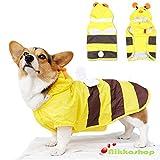 nikka(日華)犬服 レインコート ペットカッパ 雨具 ポンチョ 梅雨 軽量 防水 通気 帽子付き 小型犬 中型犬 大型犬 ハチなりきり LLサイズ