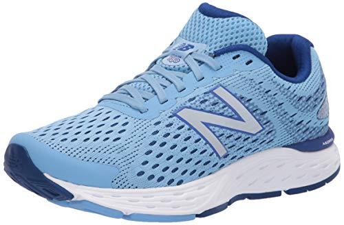 New Balance Women's 680 V6 Running Shoe, Team Carolina/Neo Classic Blue/Silver Metallic, 5.5 W US