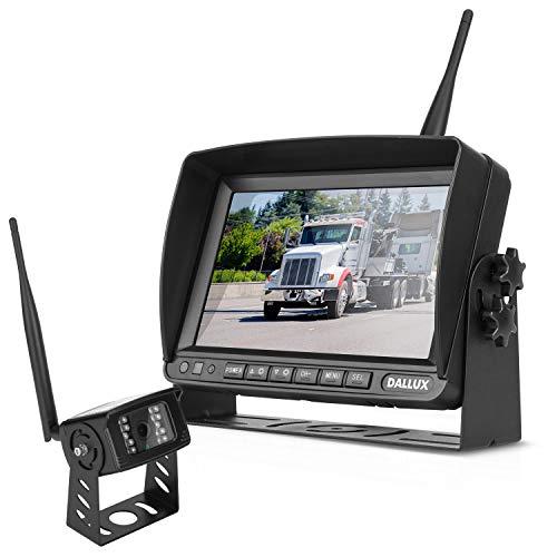 Wireless-Rückfahrkamera-Kit mit 7-Zoll-DVR-Monitor für Fahrzeuge/Pickups/LKWs/Anhänger/Busse/Van/Wohnmobile/Landwirtschaft mit 1080P-Nachtsicht-Signal-Rückfahrkamera IP69K