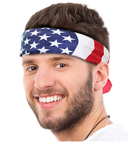 American Flag Bandana Headband USA Bandana USA Flag Apparel Men USA Clothing Men