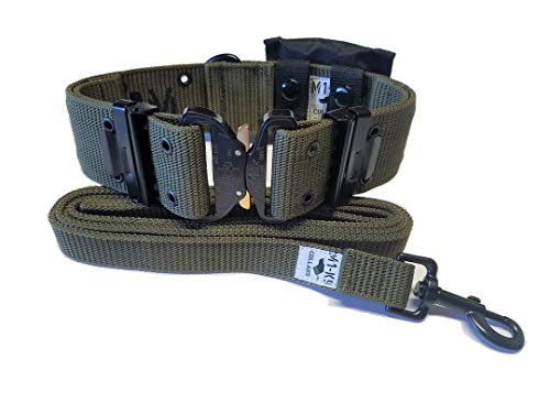 M1-K9 Generation 3 Pro Series Dog Collar with Pouch and Leash (OD Green)