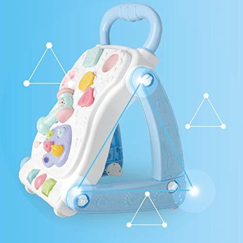 Andador Didático Infantil 2 em 1 Vira Mesinha Star Baby Azul