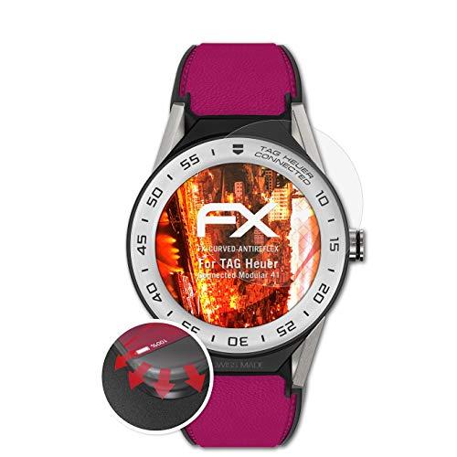 atFoliX Schutzfolie kompatibel mit Tag Heuer Connected Modular 41 Folie, entspiegelnde & Flexible FX Bildschirmschutzfolie (3X)