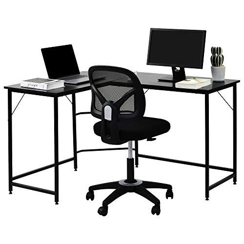 NaiCasy L Shaped Desk, Corner Desk, Gaming Desk, Computer Desk, Computer Workstation Large PC Gaming...