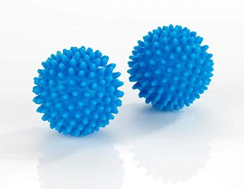 WENKO Multifunktionsbälle 2er Set für variablen Einsatz, weiche und knitterfreie Wäsche im Wäschetrockner, Massageball,(Ø ca. 7 cm), Blau