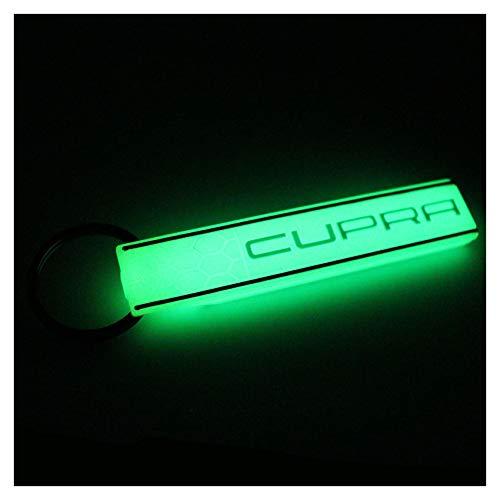 VmG-Store Cupra Wabenoptik Schlüsselanhänger Keytag (Nachtleuchtend)