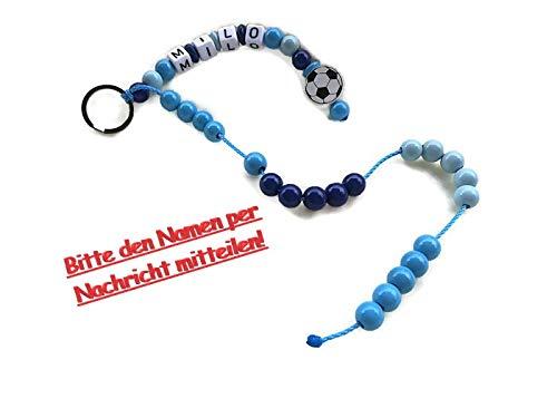 my-little-baby-dreams Rechenkette für Jungen Motiv Fussball