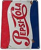 SIGNCHAT Letrero de Metal para Pared con diseño de Pepsi Cola de 8 x 12 Pulgadas