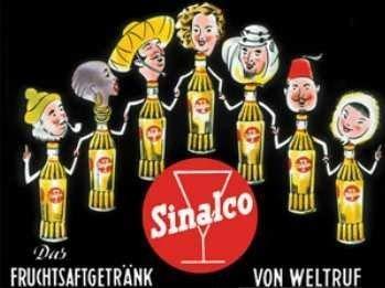 Magnet Sinalco Flaschen