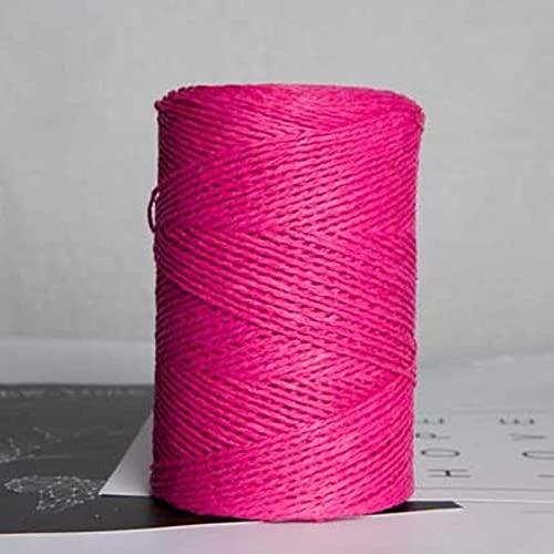 SHIYANTQ 500g/rollo de hilo de paja de rafia para tejer a mano sombrero de paja de verano bolsos de hilo orgánico ganchillo hecho a mano material de bricolaje
