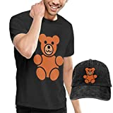 Baostic Camisetas y Tops Hombre Polos y Camisas, Baby Bear Fashion Men's T-Shirt and Hats Youth & Adult T-Shirts