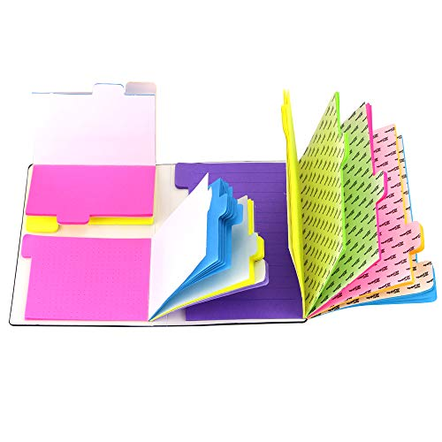 UPlama 156 Pages Divider Sticky Notes Set with Bookmark Index, 60 Ruled Lined Notes (4x6'), 48 Dotted Notes (3x4'), 48 Blank Notes (2.7x4.2') for Planner Bullet Journaling Notebook Textbook