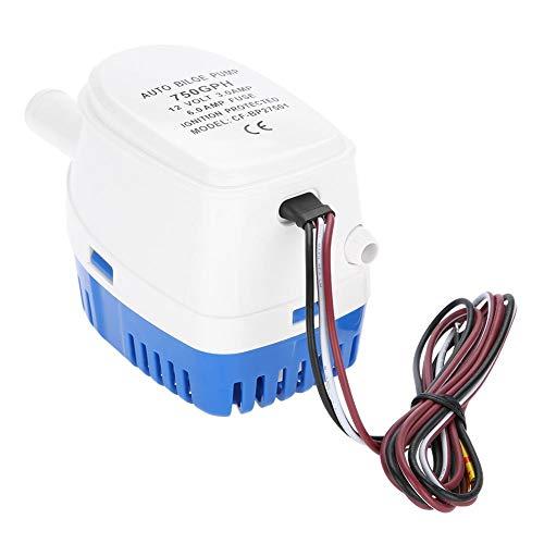 Automatische 12V Bilgenpumpe 750GPH Wasserpumpe mit Schwimmerschalter