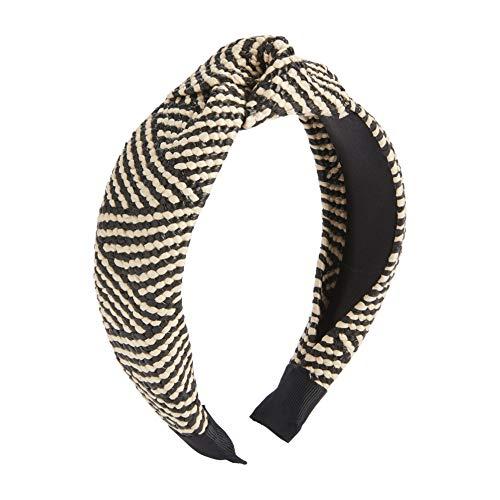 Mud Pie Women's Raffia Knotted Headband, Stripe,...