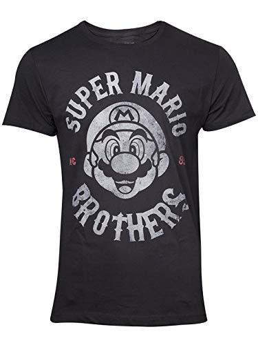 Nintendo - Super Mario Biker Men's T-Shirt (XL) Black