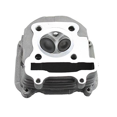 GOOFIT Válvula de montaje de culata de 57.4 mm Filtro de combustible reemplazo para aluminio GY6 150cc chino 152QMI 157QMJ ATV Quad instalado scooter ciclomotor piezas