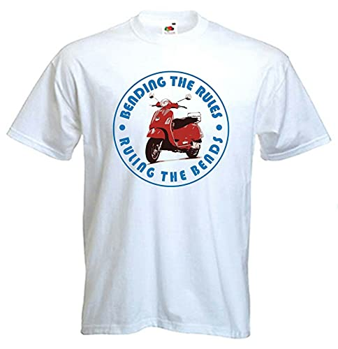 Miss Ye Bending The Rules RULING The Bends T Shirt Scooter Mod Mods Colour Choice Man T-Shirt 100% Cotton Sleeve Shirt White 3XL