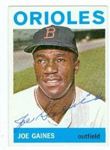 Joe Gaines autographed baseball card (Baltimore Orioles) 1964 Topps #364