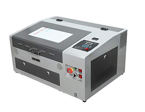 TEN-HIGH CO2 Engraving Machine, 40W 300x400mm Laser Engraving Machine with Exhaust Fan USB Port, Grey Version.