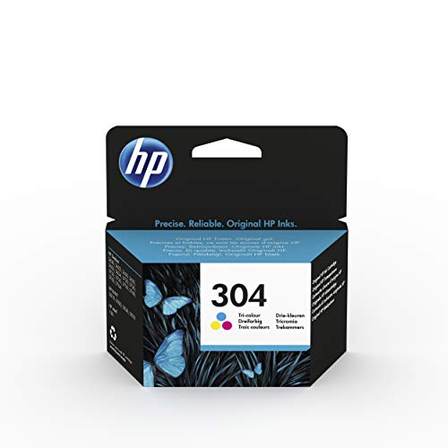 HP 304 N9K05AE - Cartucho de Tinta Original Tricolor, compatible con impresoras de inyección de tinta HP DeskJet 2620, 2630, 3720, 3730, 3750, 3760, HP Envy 5010, 5020, 5030