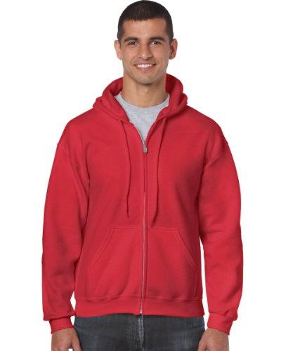 Gildan Gildan 18600 Heavy Blend Erwachsene Full Zip Hoodie Kapuzen-Sweatshirt Rot XL