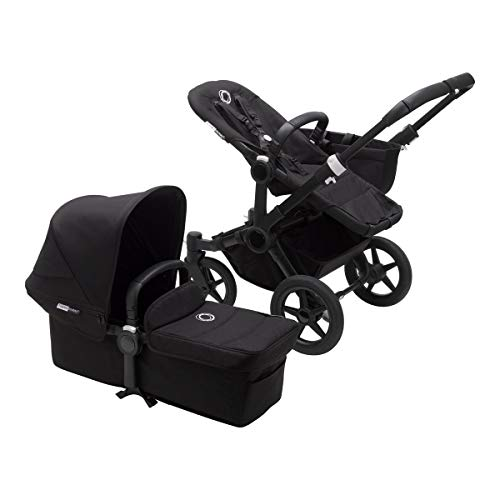 Bugaboo Donkey 3 Mono Black Seat Black Sun Canopy Convertible to Double Stroller