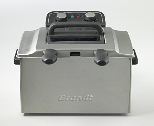 Brandt – Freidora 100% sin BPA – Gran capacidad de 5 litros – Indicadores luminosos – Termostato regulable hasta 190 °C – Potencia: 3000 W