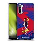 Head Case Designs Licenciado Oficialmente FC Barcelona Sergio Busquets 2020/21 First Team Group 1 Carcasa de Gel de Silicona Compatible con OPPO Find X2 Lite 5G
