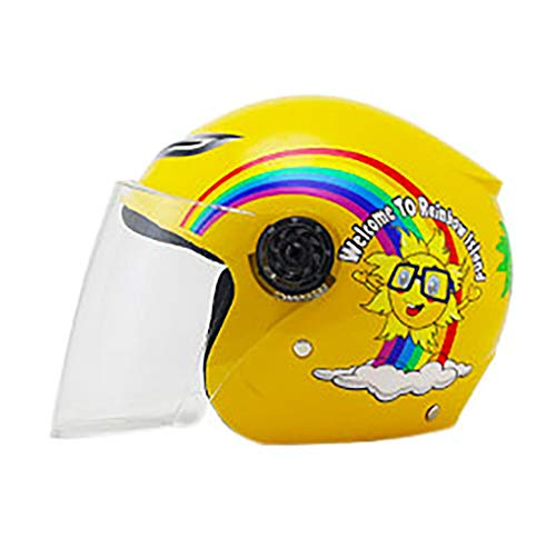 Fietshelm voor kinderen met afneembaar vizier voor magneetbrillen, instelbare mountain- en racefietshelmen, veiligheidsbescherming en ademend B-2