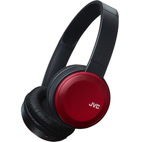 JVC HA-S30BT-R-E Bluetooth On-Ear-Kopfhörer mit kompakter Bauweise, rot