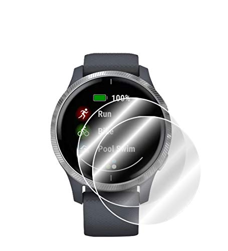 IPG For Garmin Venu GPS Smartwatch Screen Protector (2 Units) Invisible Ultra HD Clear Film Anti Scratch Skin Guard - Smooth/Self-Healing/Bubble -Free By