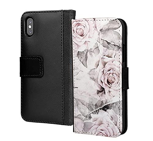 Hermosa Pastel Hojas Otoño Flor PU Cuero Cartera En Tarjeta Teléfono Funda Para Samsung Galaxy A50