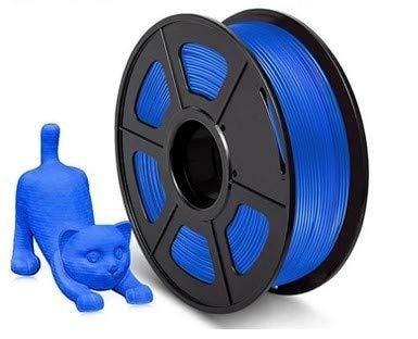 SUNLU 3D Printer Filament PLA, 1.75mm PLA Filament, 3D Printing Filament Low Odor, Dimensional Accuracy +/- 0.02 mm, 2.2 LBS (1KG) Spool,Blue