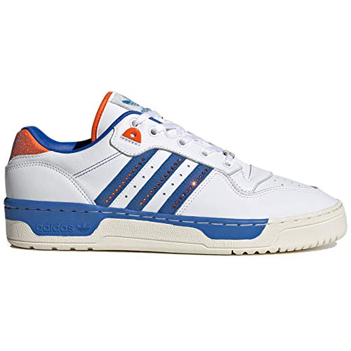 adidas Mens Originals Rivalry Low with Swarovski Crystals Casual Shoes Fx7469 Size 11 White/Blue/Orange