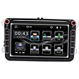 MagiDeal Radio de Coche Bluetooth AUX en FM para Pantalla Táctil Volkswagen 9083