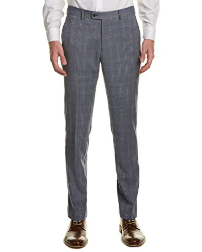 Original Penguin Men's Flat Front Slim Fit Glen Plaid Suit Separate Pants, Blue, 38W x 30L