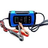 CUIJU Cargador de batería para Coche, 12V 6A, Cargador de batería automático...