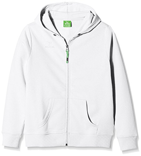 erima Kinder Sweatjacke Hooded Jacket, Weiß, 164, 207331