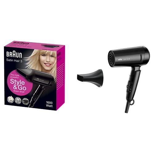 Braun Satin Hair 3 Style&Go Haartrockner HD350, mit IonTec und Stylingdüse, 1600 Watt